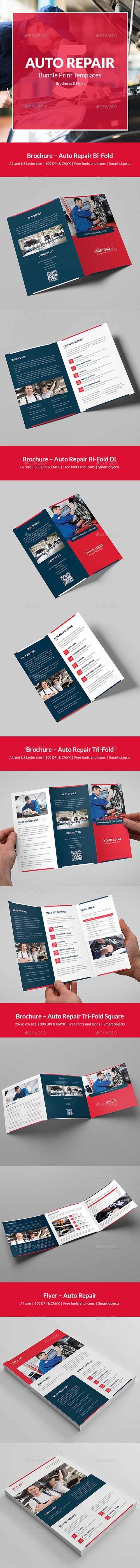 Auto Repair – Bundle Print Templates 5 in 1 21294221