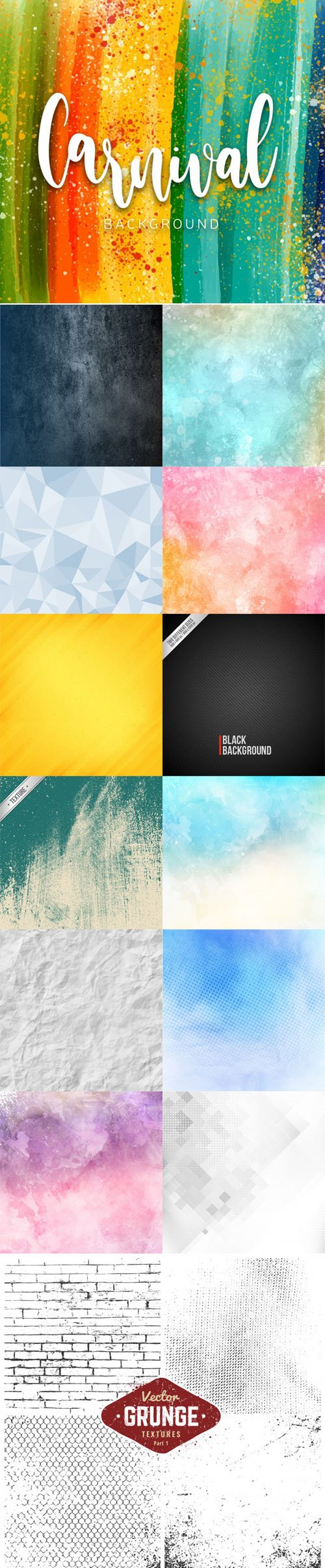 14 Textures Backgrounds Vector