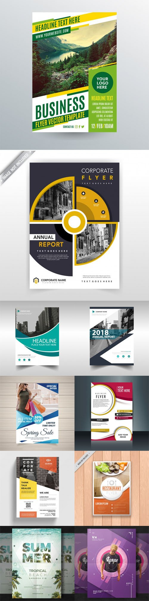 10 Modern Flyers & Brochures Templates in [AI/EPS/PSD]
