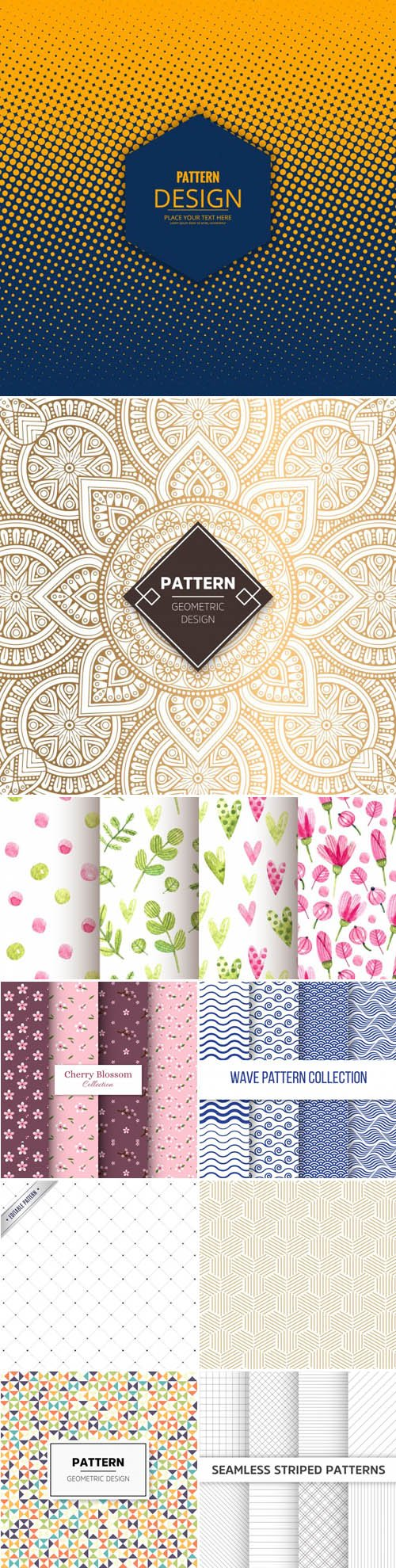 30 Vector Patterns Collection