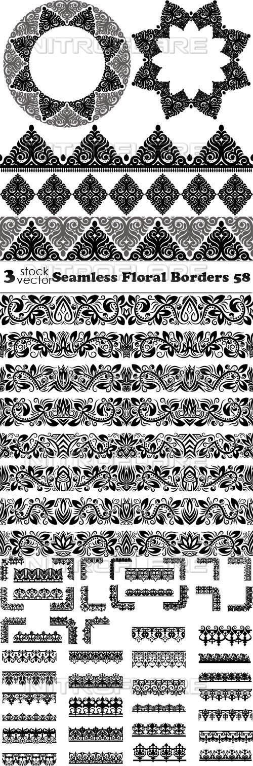 Vectors - Seamless Floral Borders 58