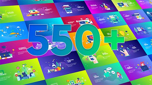 Flat Design Concepts Package - Project for After Effects (Videohive)