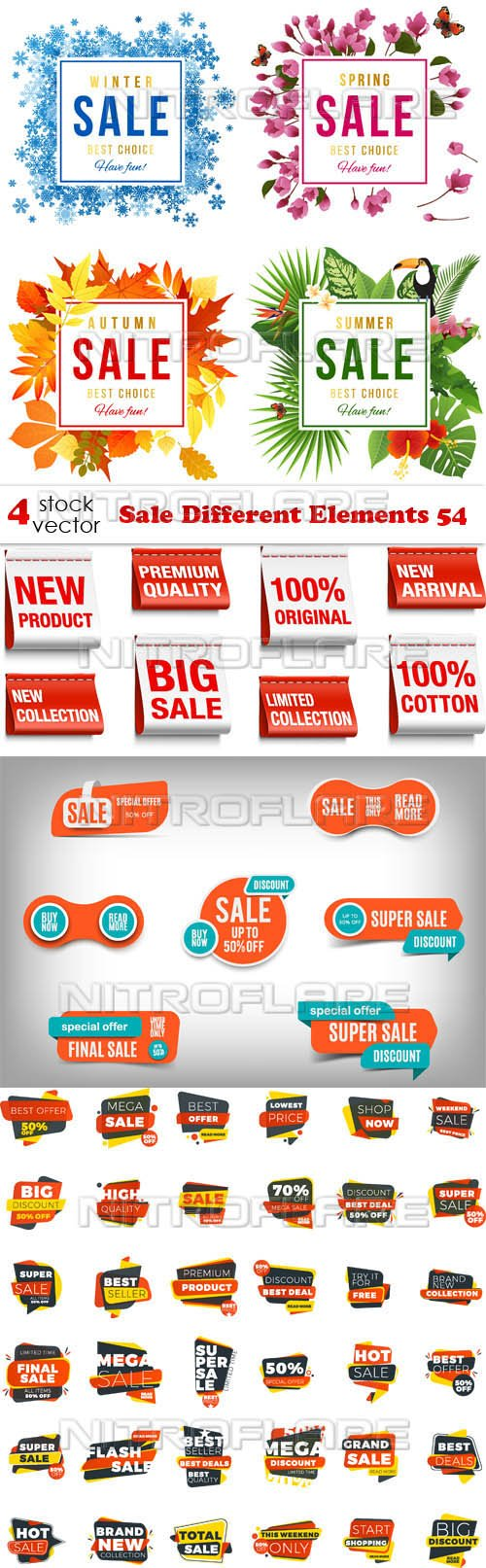 Vectors - Sale Different Elements 54