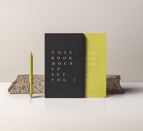 Notebook Mockup Set Vol 2