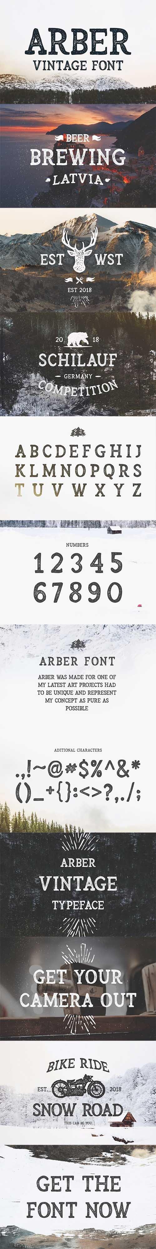 Arber Vintage font 2319355