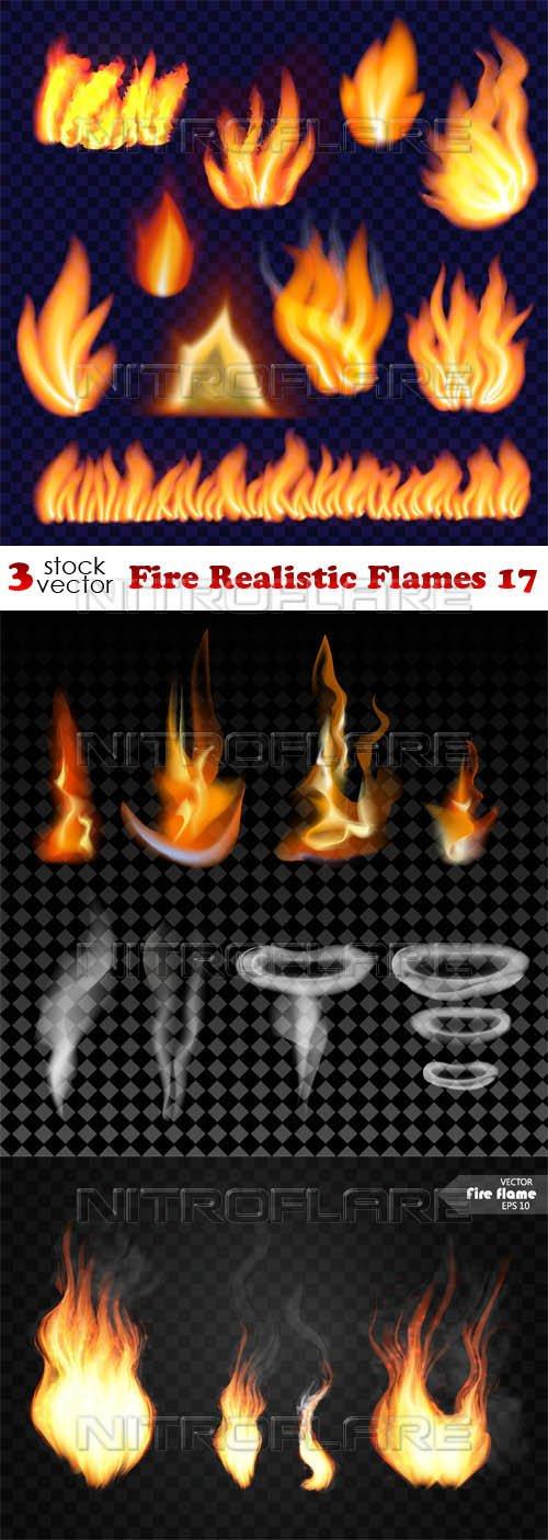 Vectors - Fire Realistic Flames 17