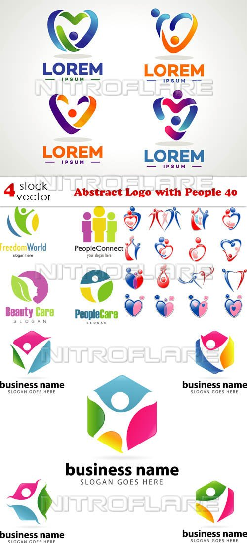 Vectors - Abstract Logo with People 40
