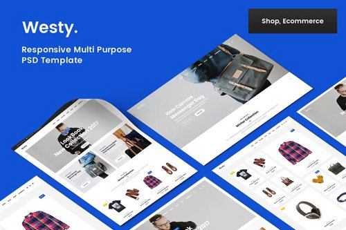 Westy Shop & Ecommerce PSD Template