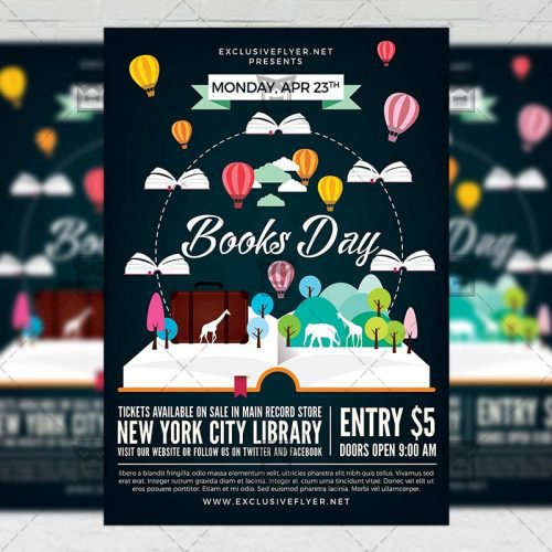 Community A5 Flyer Template - Happy Book Day