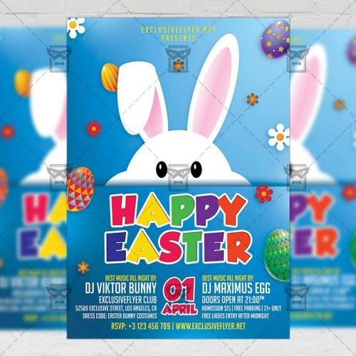 Seasonal A5 Flyer Template - Happy Easter 2018