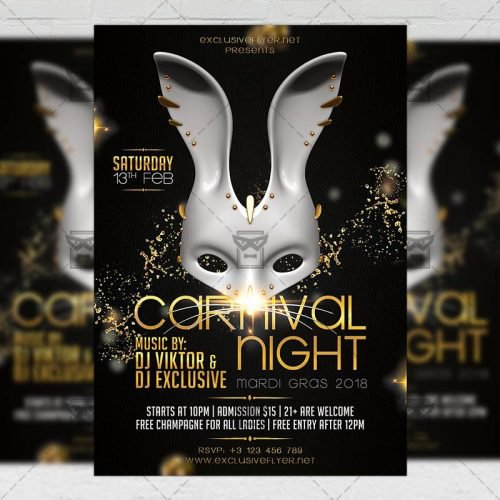 Seasonal A5 Flyer Template - Carnival Night