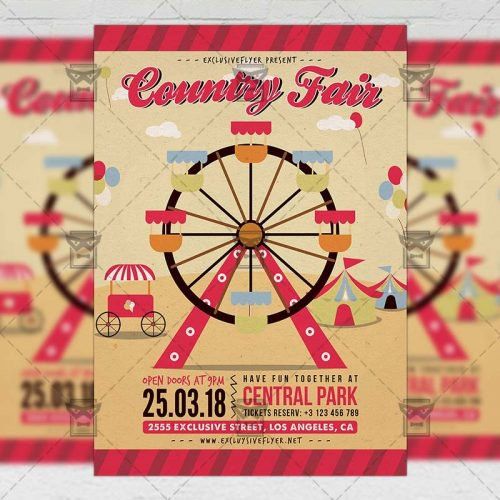 Community A5 Flyer Template - Country Fair