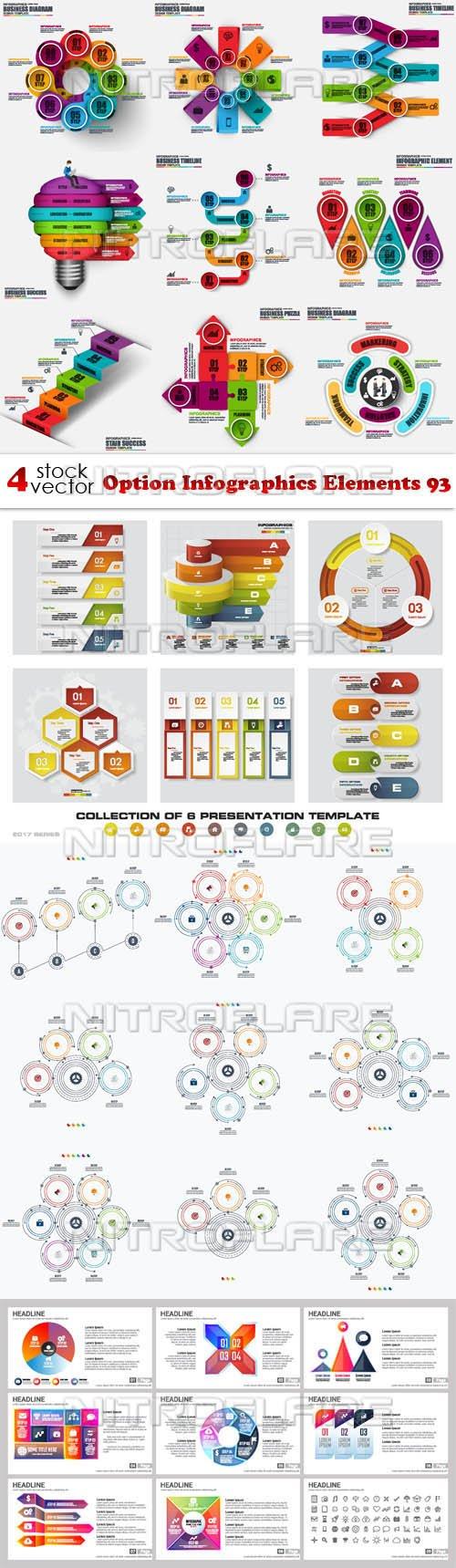 Vectors - Option Infographics Elements 93