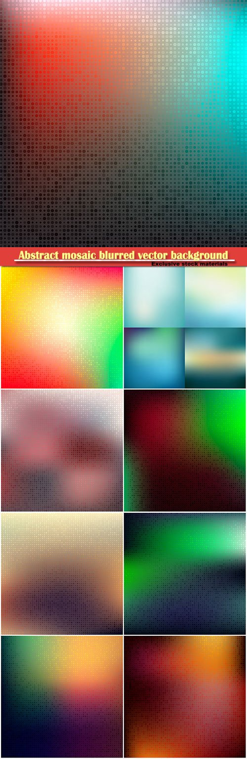 Abstract mosaic blurred vector background