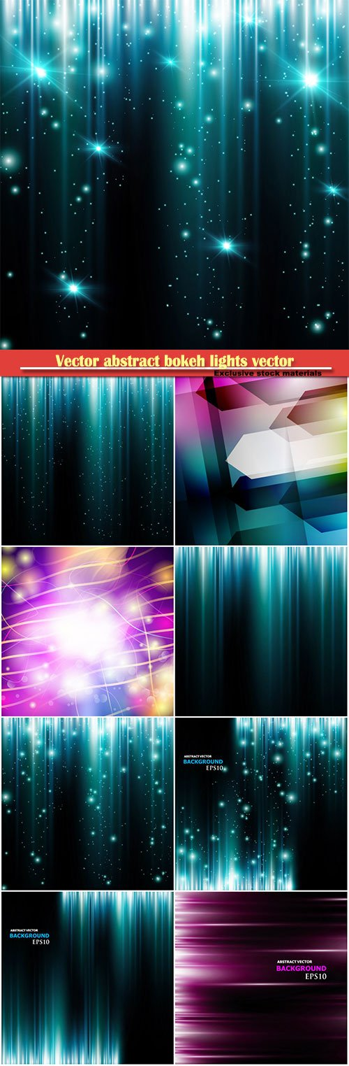 Vector abstract bokeh lights vector background