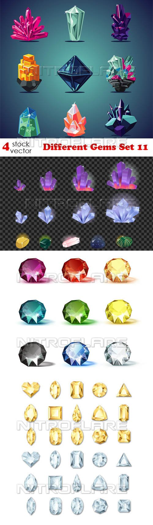 Vectors - Different Gems Set 11