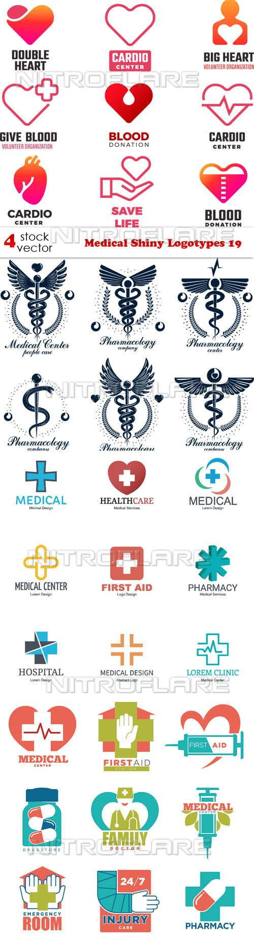 Vectors - Medical Shiny Logotypes 19