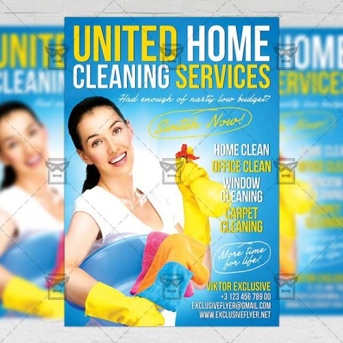 Business A5 Flyer Template - House Cleaning Service