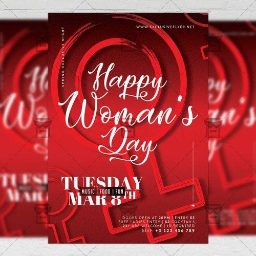 Seasonal A5 Flyer Template - International Woman's Day