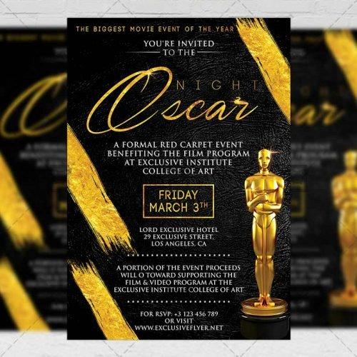 Club A5 Flyer Template - Oscar Night