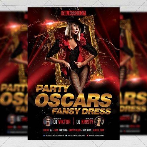 Club A5 Flyer Template - Oscars Fancy Dress Party