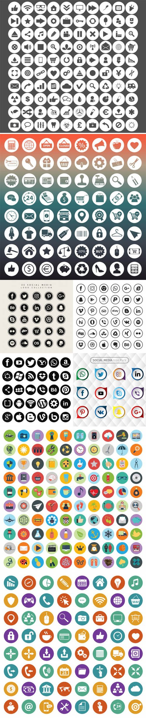 400+ Collection of Icons in Vector