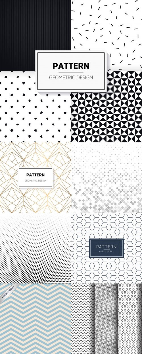 7 Patterns Collectiomn in Vector