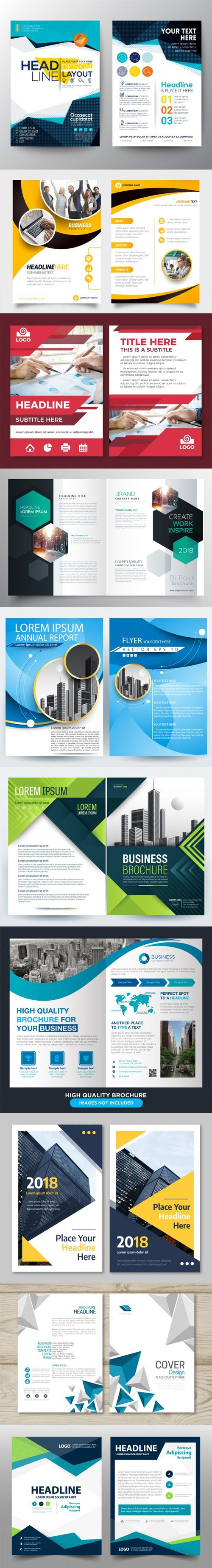 10 Modern and Professional Flyers/Brochures Templates in Vector
