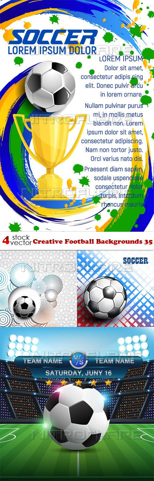 Vectors - Creative Football Backgrounds 35