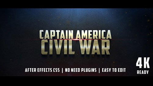 Civil War Cinematic Trailer - Project for After Effects (Videohive)