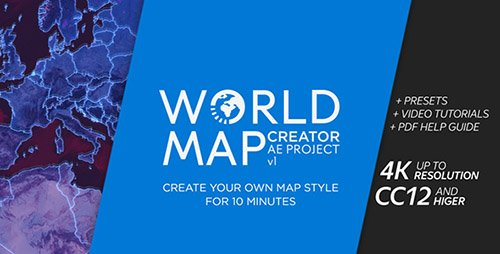 World Map Creator - Project for After Effects (Videohive)