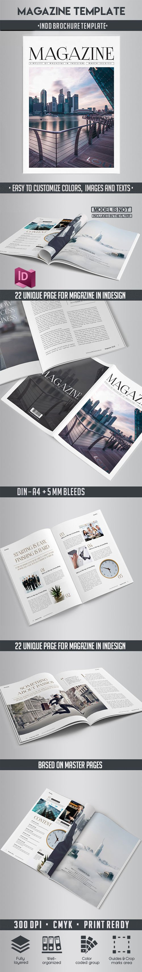 Magazine Indd Brochure Template