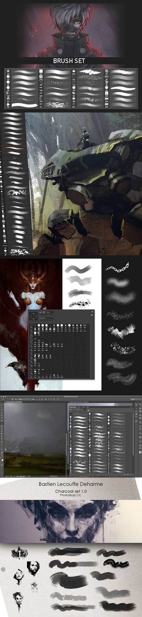 Painting & Drawing Brushes Collection for Photoshop
