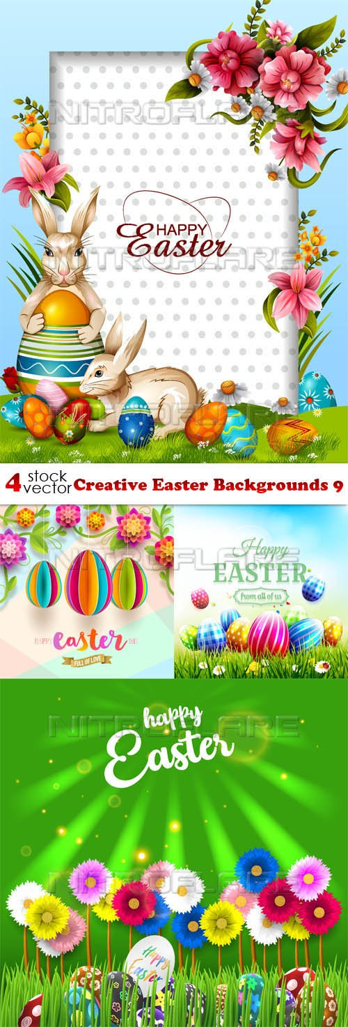 Vectors - Creative Easter Backgrounds 9