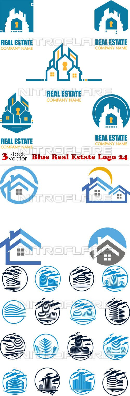 Vectors - Blue Real Estate Logo 24