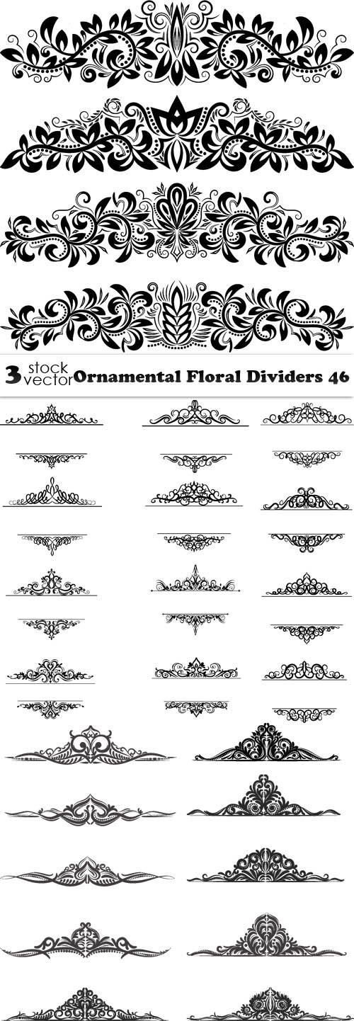 Vectors - Ornamental Floral Dividers 46