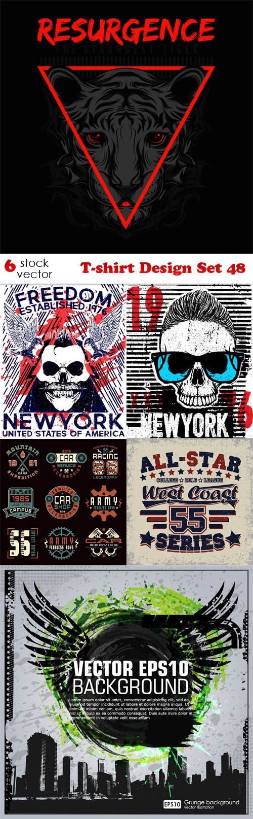Vectors - T-shirt Design Set 48
