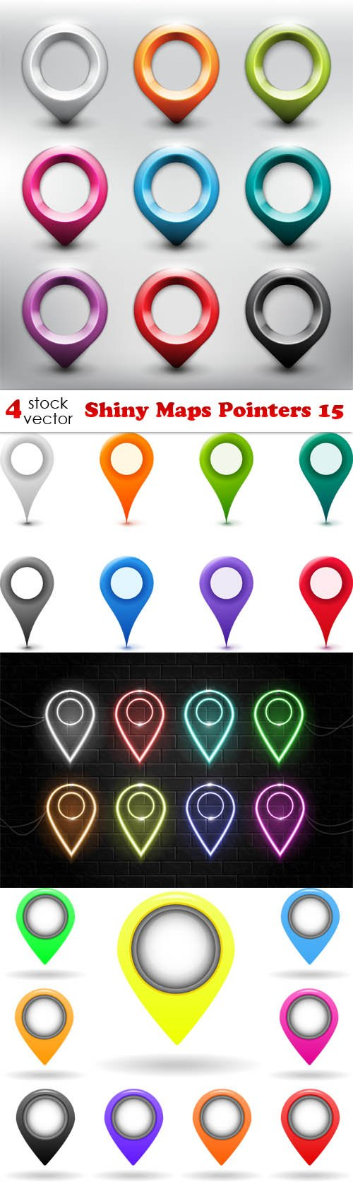 Vectors - Shiny Maps Pointers 15