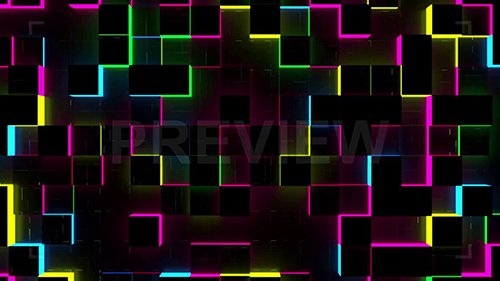 MA - Glow Cubes Background 69508