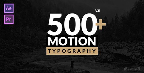 Motion Typography V5 - Project for After Effects (Videohive)