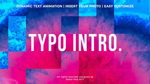 Typo Intro 20969059 - Project for After Effects (Videohive)