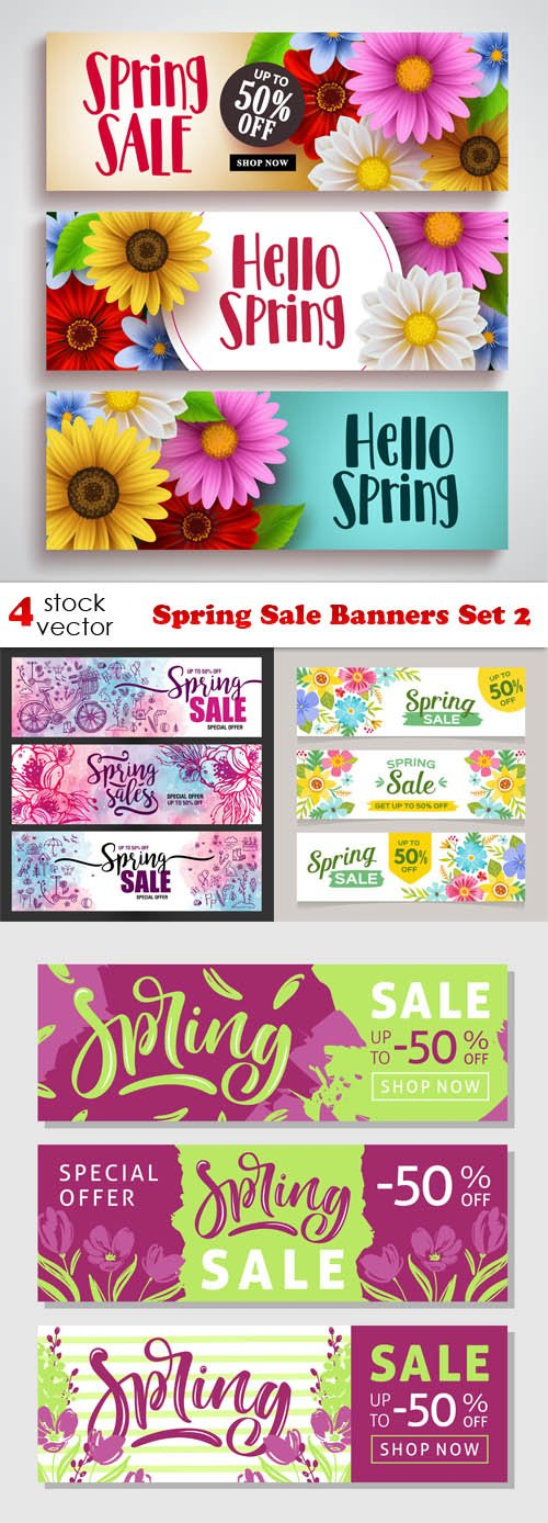Vectors - Spring Sale Banners Set 2