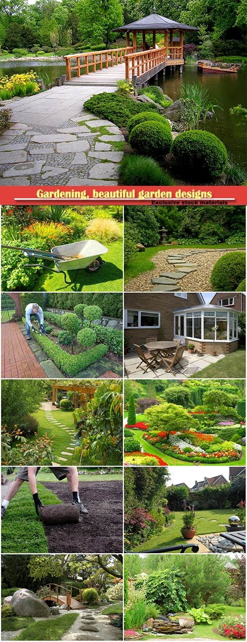 Gardening, beautiful garden designs