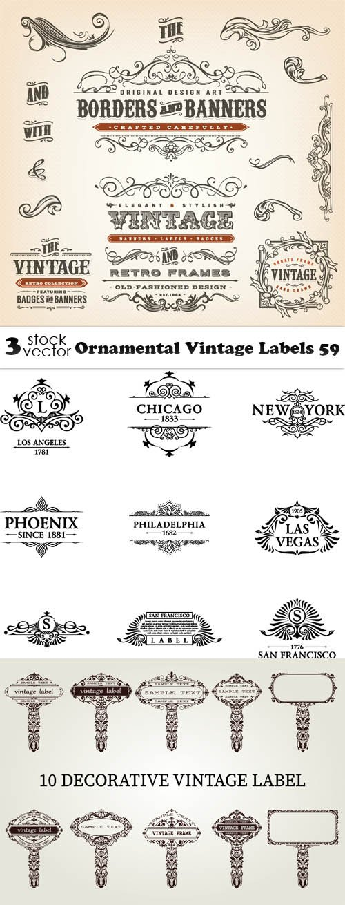 Vectors - Ornamental Vintage Labels 59