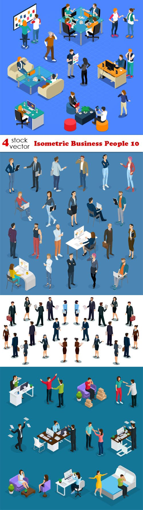 Vectors - Isometric Business People 10