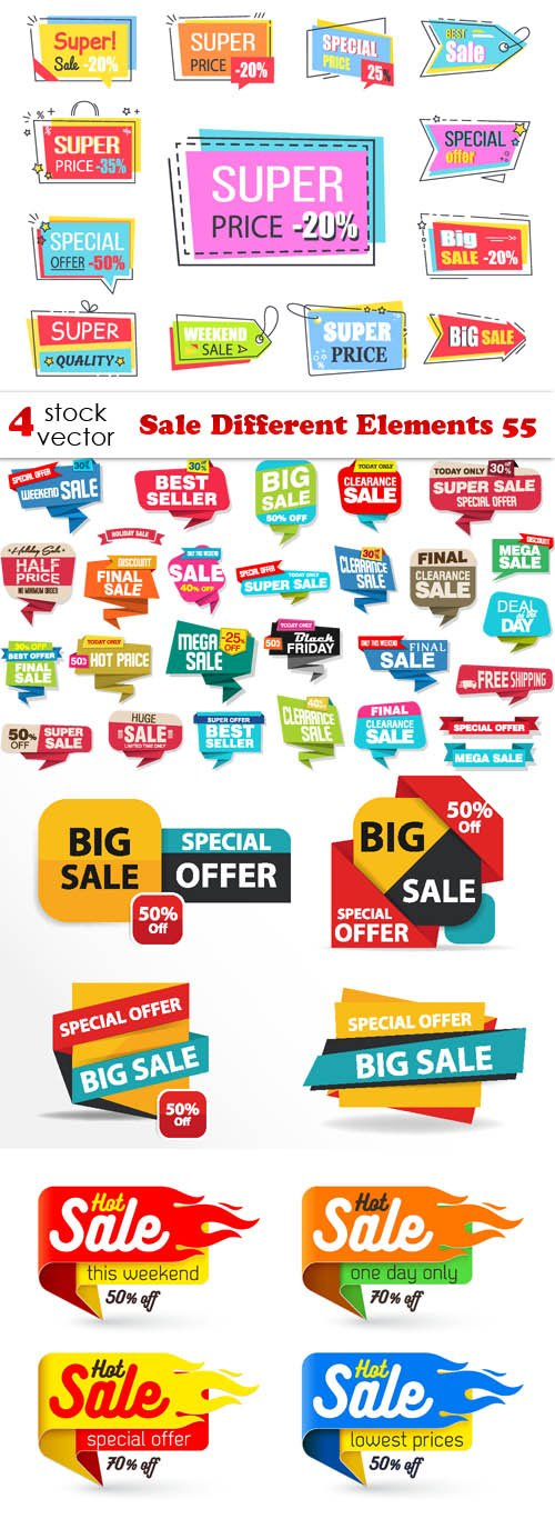 Vectors - Sale Different Elements 55
