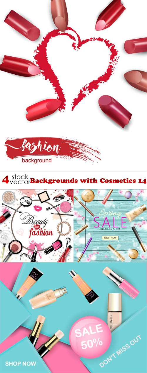 Vectors - Backgrounds with Cosmetics 14