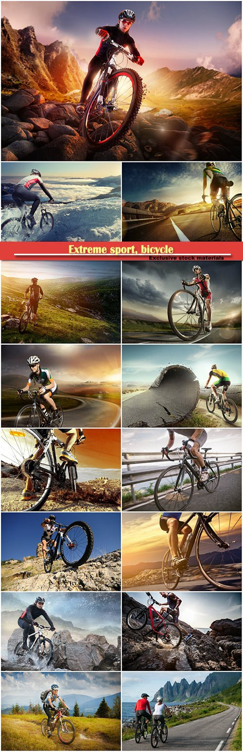 Extreme sport, bicycle and man life style outdoor extreme sport