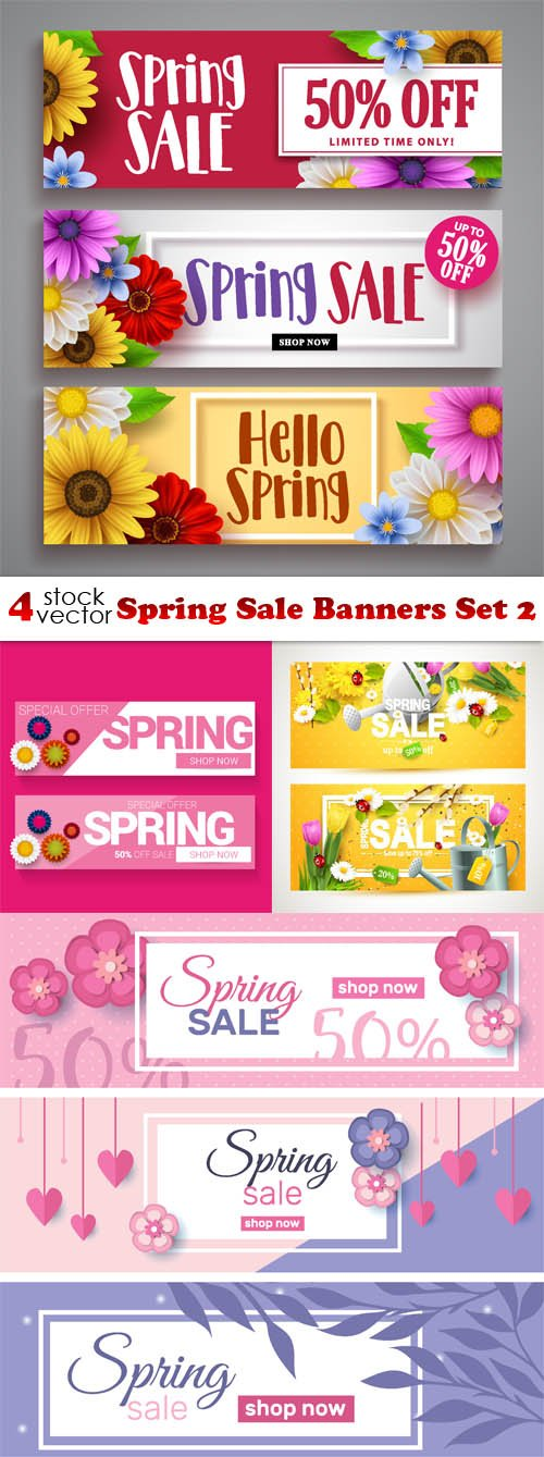 Vectors - Spring Sale Banners Set 3