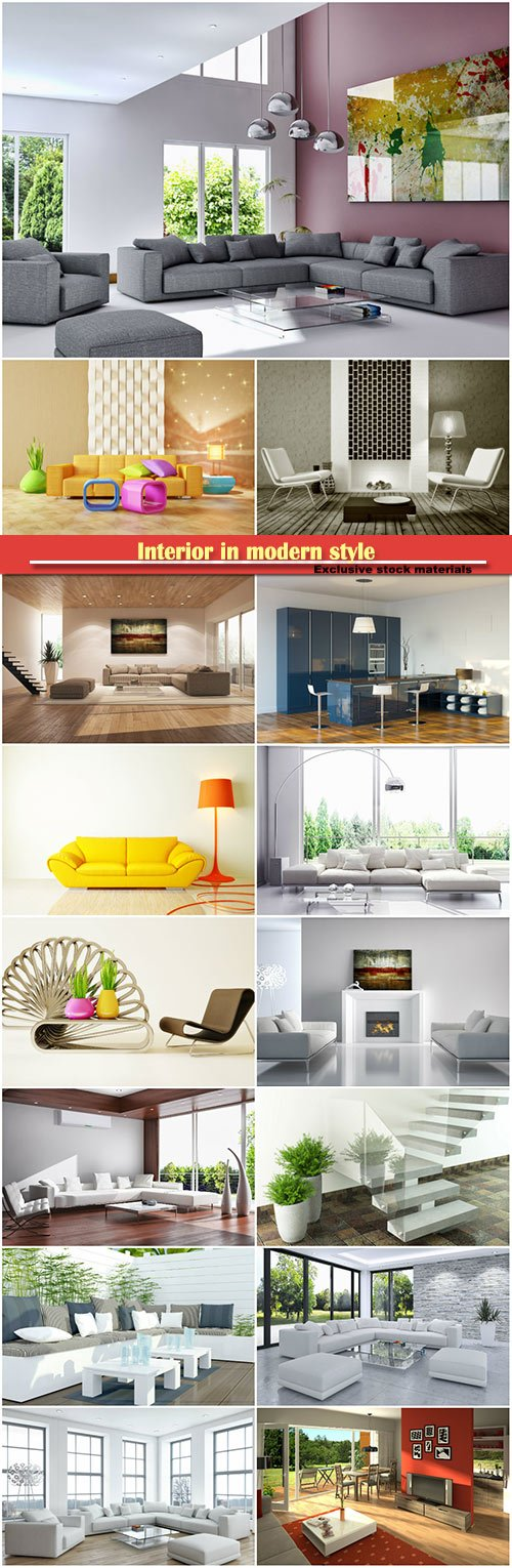 Interior in modern style, bedrooms and hallways room